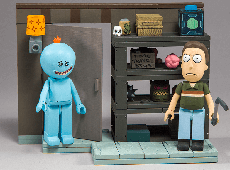 Rick and Morty Smith Family Garage Rack Construction Set