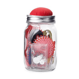 Sewing Kit Mason Jar