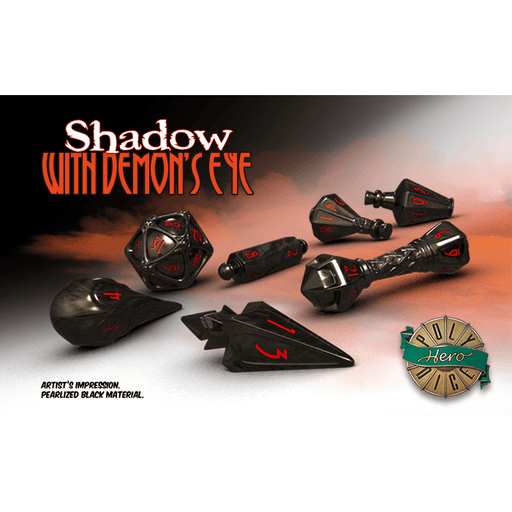 Wizard Dice 7-set Shadow w/ Demon's Eye