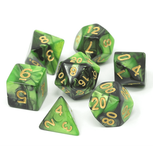 Dice 7-set Alloy (16mm) Shadow Goblin