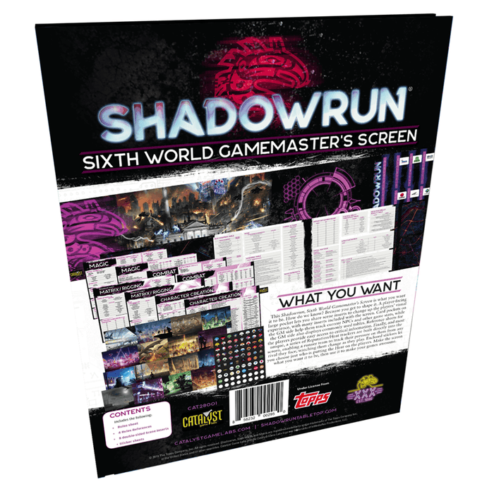 Shadowrun (6th ed) Sixth World GM Screen