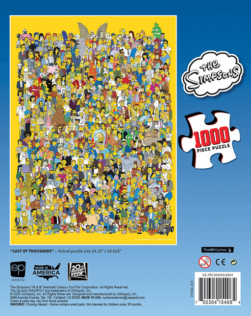 Puzzle (1000pc) Simpsons : Cast of Thousands