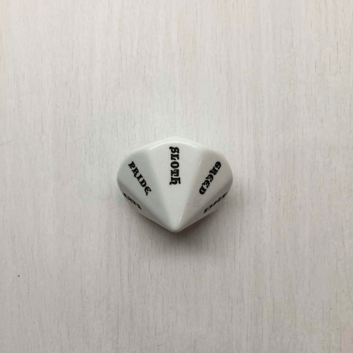 Polyhedral Dice d14 (35mm) Virtue / Sins