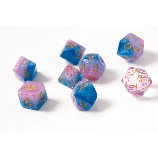 Dice 7-set Translucent Semi (16mm) Baby Gummies