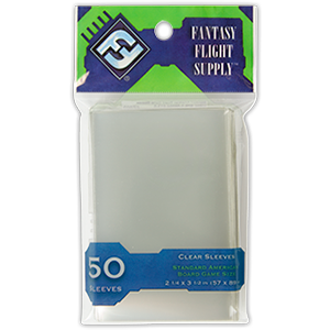 Sleeves Fantasy Flight Standard American (Green 57x89mm 50ct) Clear