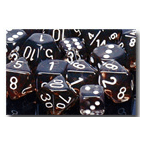 Dice Set 12d6 Translucent (16mm) 23608 Smoke / White