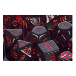 Dice Set 36d6 Translucent (12mm) 23818 Smoke / Red