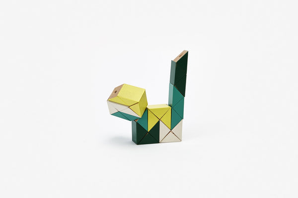 Snake Blocks (Small) Yellow / Green