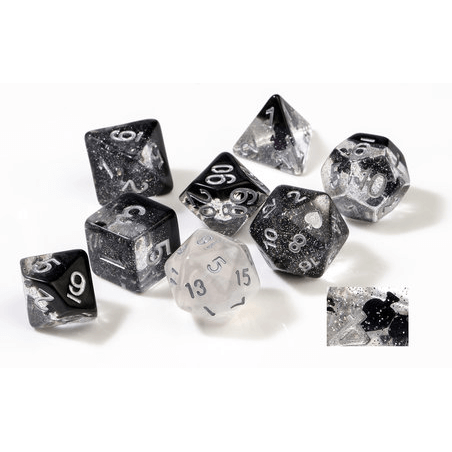 Dice 7-set Translucent (16mm) Spades