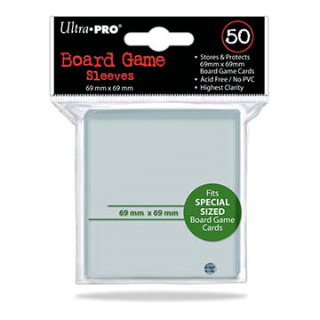 Sleeves Ultra Pro Special (Green 69x69mm 50ct) Clear