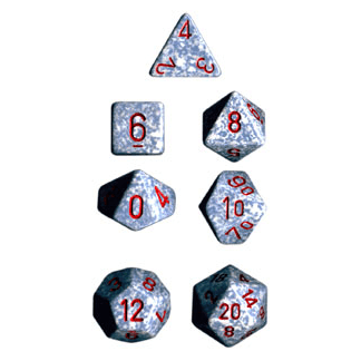 Dice 7-set Speckled (16mm) 25300 Air