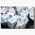 Dice Set 12d6 Speckled (16mm) 25700 Air