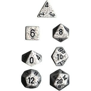 Dice 7-set Speckled (16mm) 25311 Arctic White Camo