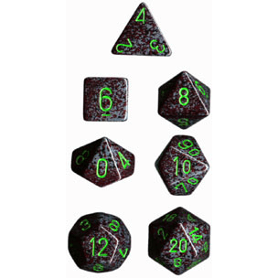 Dice 7-set Speckled (16mm) 25310 Earth