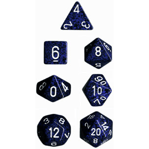 Dice 7-set Speckled (16mm) 25346 Stealth