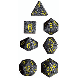 Dice 7-set Speckled (16mm) 25328 Urban Camo