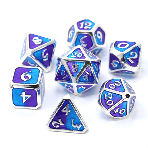 Dice 7-set Metal Mythica (16mm) Spellbinder Nightfall