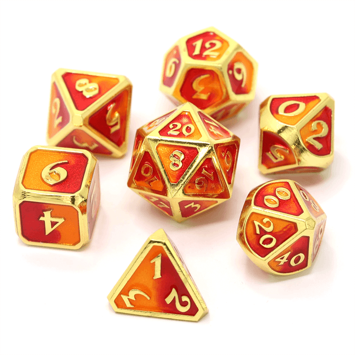 Dice 7-set Metal Mythica (16mm) Spellbinder Phoenix