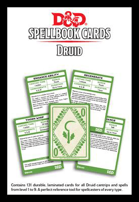 Druid Spell Cards 5e Basic Rules Cantrip to Level 9