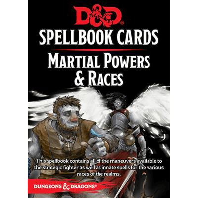 D&D Spell Cards : Martial Powers & Races (2018)