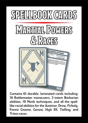 D&D (5e V3) Spell Cards : Martial Powers & Races
