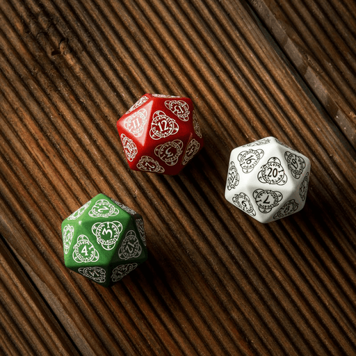 Polyhedral Dice Spindown d20 Level Counter (30mm) Red / White