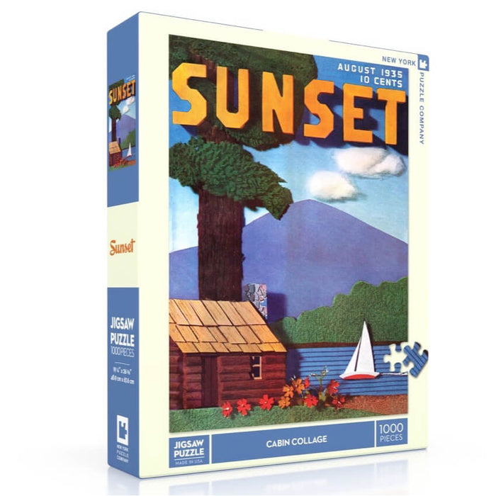 Puzzle (1000pc) Sunset : Cabin Collage