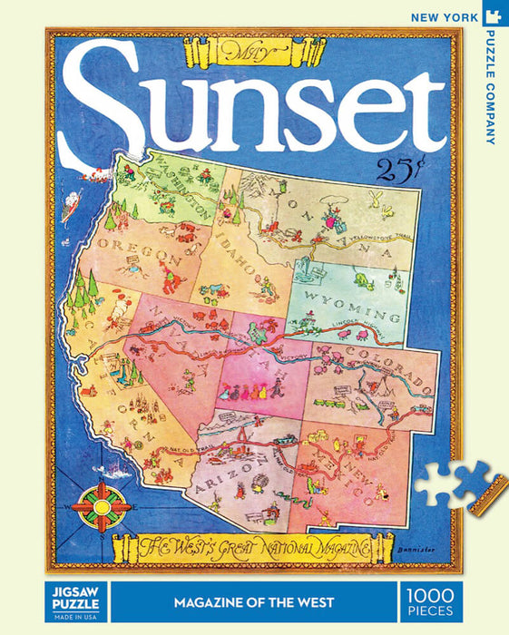 Puzzle (1000pc) Sunset : Magazine of the West