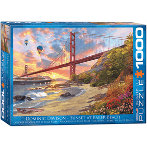 Puzzle (1000pc) Artist Series : Sunset at Baker Beach
