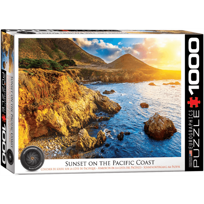Puzzle (1000pc) HDR Photography : Sunset on the Pacific Coast