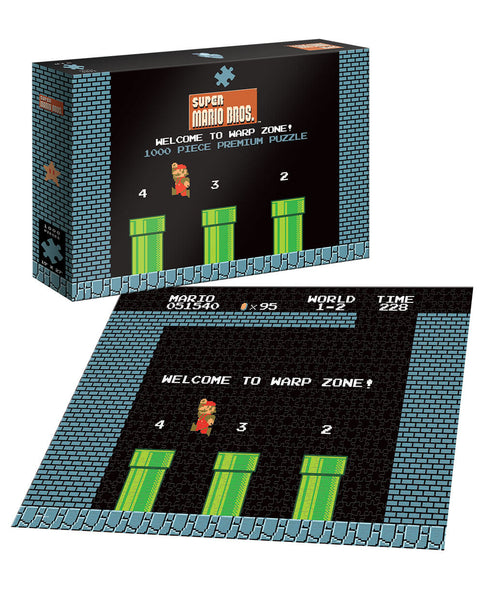 Puzzle (1000pc) Super Mario Bros : World 1-2 Welcome to the Warp Zone!