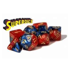 Dice 7-set Superdice (16mm) Blue / Red