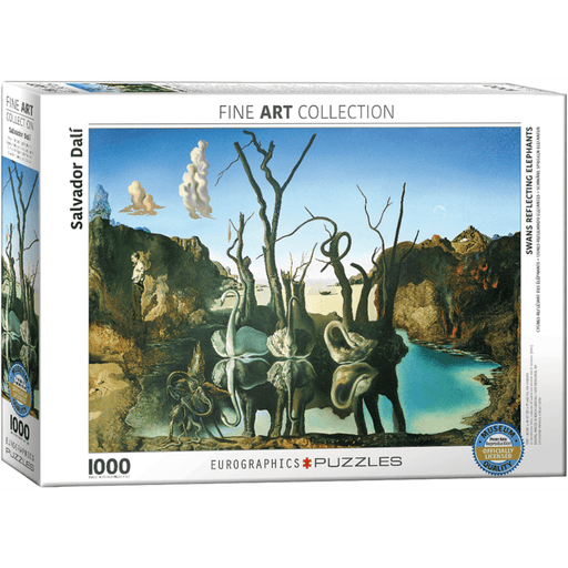 Puzzle (1000pc) Fine Art : Swans Reflecting Elephants