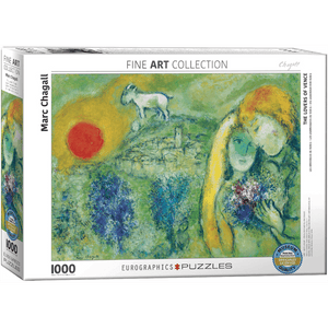 Puzzle (1000pc) Fine Art : The Lovers of Vence