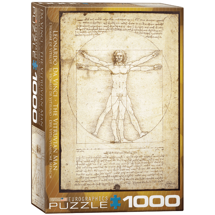 Puzzle (1000pc) History : The Vitruvian Man