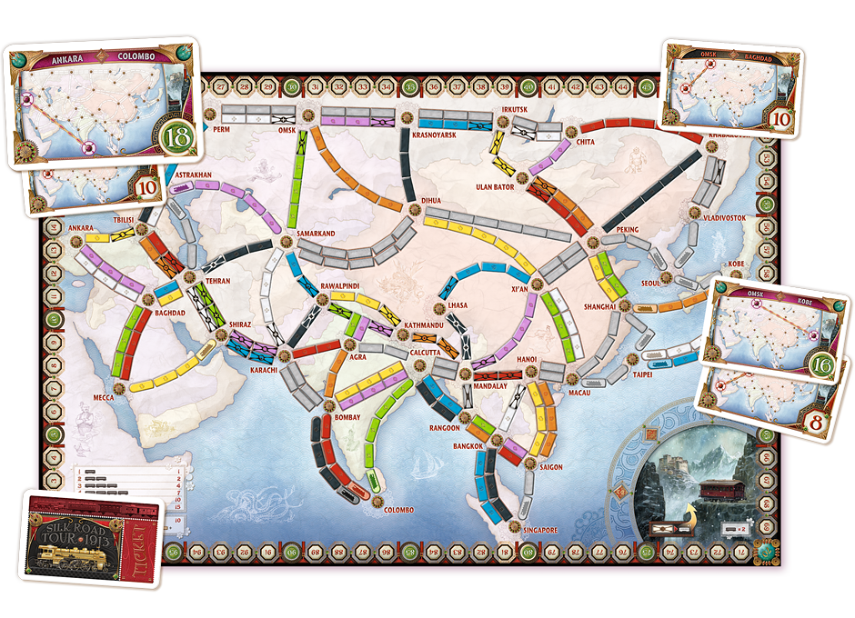 Ticket to Ride Expansion : Asia