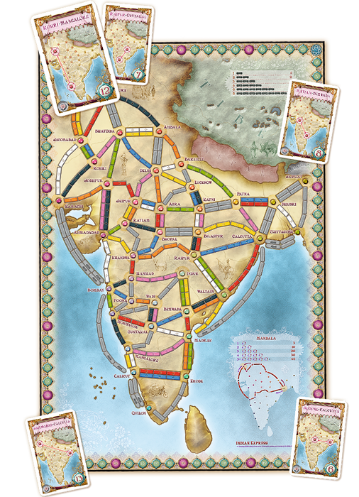 Ticket to Ride Expansion : India & Switzerland