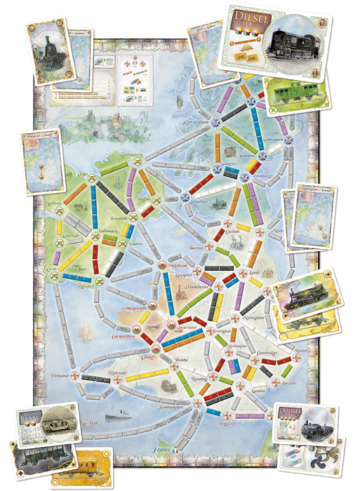 Ticket to Ride Expansion : United Kingdom & Pennsylvania