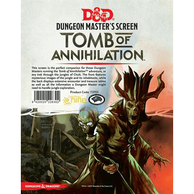 D&D (5e) Tomb of Annihilation : DM Screen