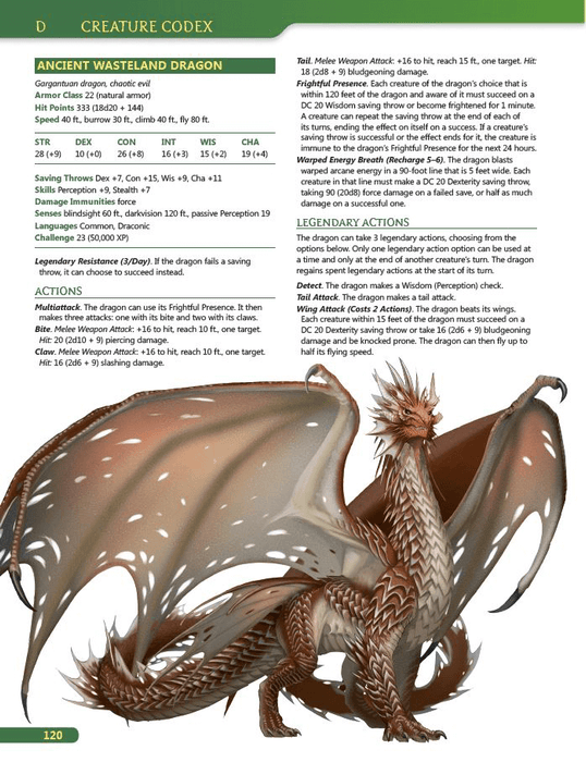D&D (5e) Tome of Beasts : Creature Codex