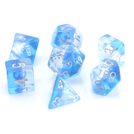 Dice 7-set Translucent Gradient (16mm) Ice Storm