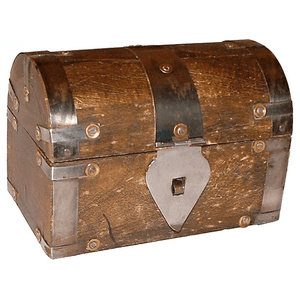 Wood Box (5in) Treasure Chest