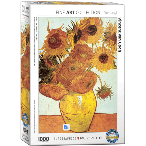 Puzzle (1000pc) Fine Art : Twelve Sunflowers