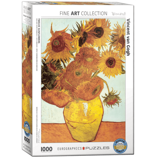 Puzzle (1000pc) Fine Art : Twelve Sunflowers Detail