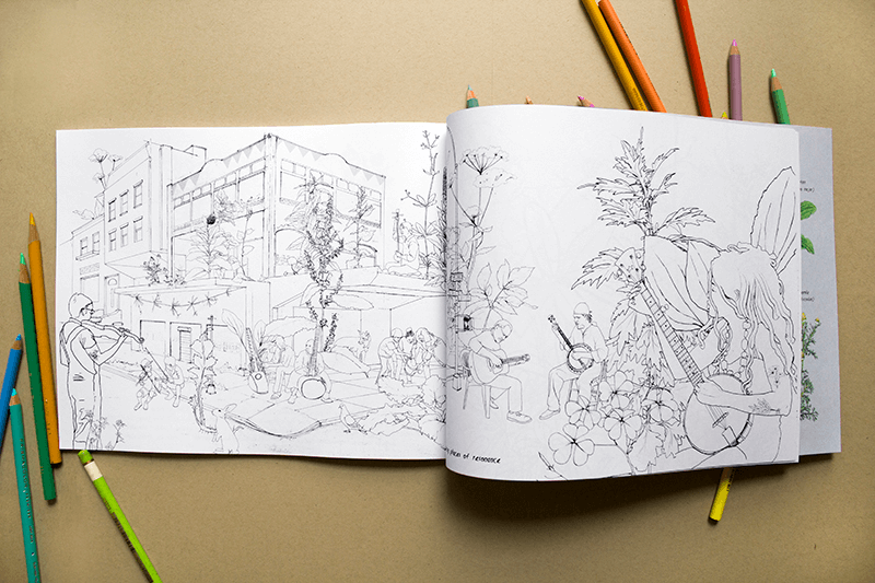 Coloring Book Urban Wild Activity