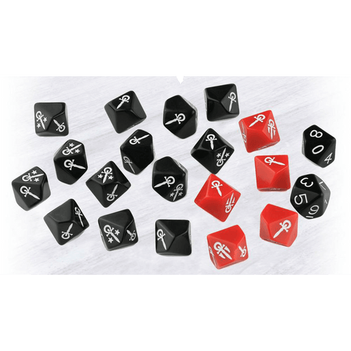 Vampire the Masquerade (5th ed) Dice Set 20d10 (16mm)
