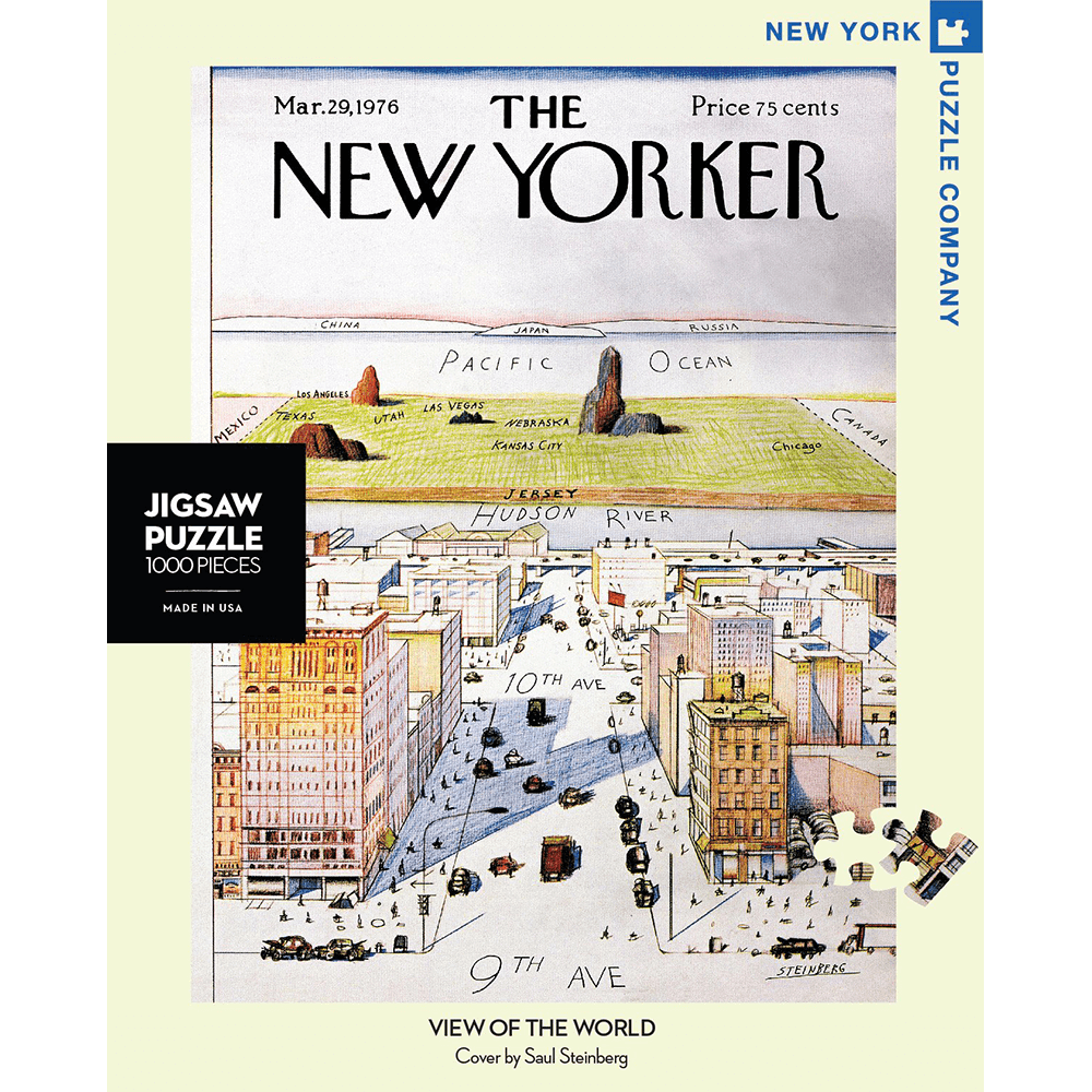 Puzzle (1000pc) New Yorker : View of the World