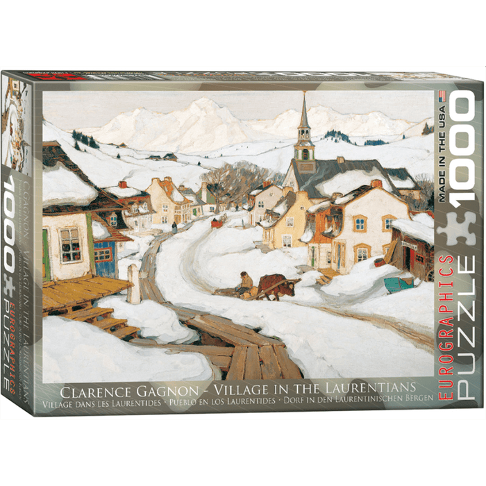 Puzzle (1000pc) Fine Art : Village in the Laurentians