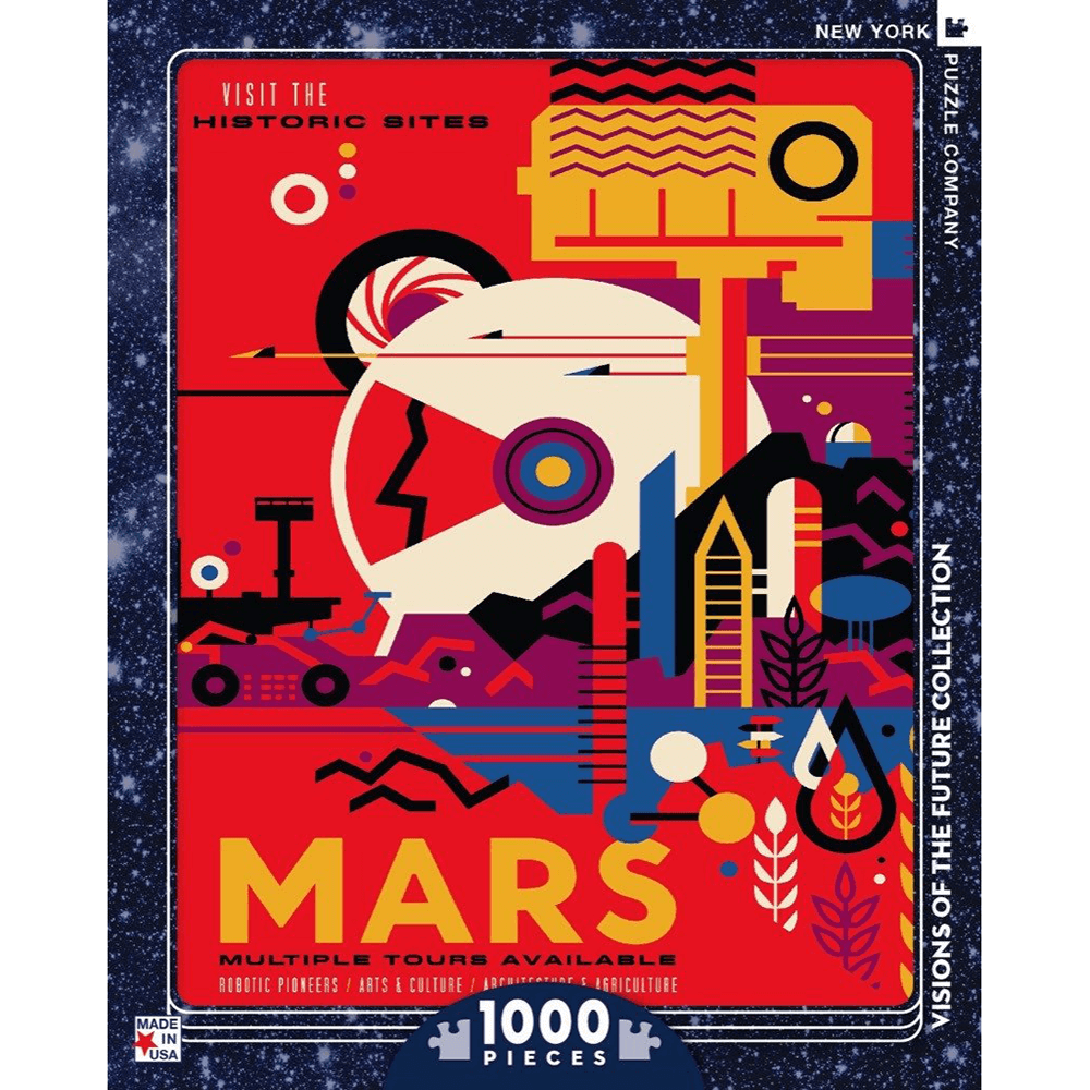 Puzzle (1000pc) Visions of the Future : Visit Mars