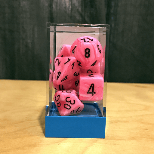 Dice 7-set Vortex (16mm) 30031 Snow Pink/Black